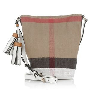 GUC Burberry canvas Ashby mini crossbody bag